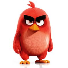 "Red from the ""Angry Birds Movie"" great for a cake topper"