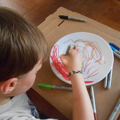 Kid-created Father's Day gift: Decorative Plate or Mug on a Dime: Sharpie Art