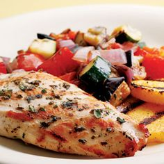 Grilled Chicken Ratatouille Recipe - Healthy Grilled Chicken Recipes - Delish.com