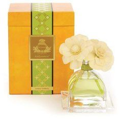 The Lemon Verbena Fragrance Diffuser is part of the AirEssence Diffuser Collection by Agragria. These diffusers use sola flowers, made one at a time, to diffuse the fragrance. As the fragrant essential oils, in the sumptuous perfume bottle, Room Scents, Sola Wood Flowers, Verbena, Fine Linens, Home Fragrances, Flower Petals, Luxury Gifts, The Fresh, Scented Candles