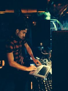 Tom Parker performing as a DJ in the club Time + Venue Bar in Cookstown, Northern Ireland