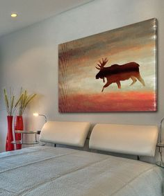 Another great find on #zulily! Moose Gallery-Wrapped Canvas by Marmont Hill #zulilyfinds