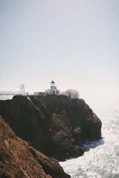Point Bonita Lighthouse in Northern California. John + Louise Photography.