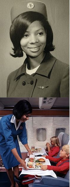 1960s: Joan Dorsey was the first African-American flight attendant hired to work for American Airlines.