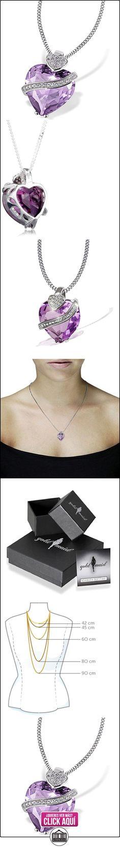 Goldmaid Fa C836S - Collar para mujer, con plata de ley (925/1000) y circonita corte corazón, tamaño de 45 centímetros  ✿ Joyas para mujer - Las mejores ofertas ✿ ▬► Ver oferta: https://comprar.io/goto/B0027CS56K