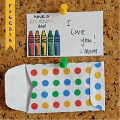 crayon lunch box notes freebie