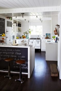 myidealhome:   chalkboard areas (via desire to inspire)