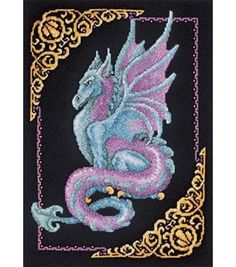 Janlynn Counted Cross Stitch Kit Mythical Dragon Picture