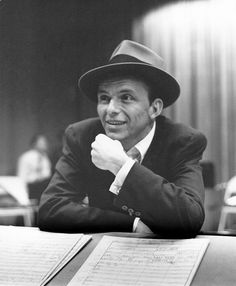 """The great Frank Sinatra, won an Oscar for best supporting actor in """"From Here To Eternity"""" Hollywood Stars, Classic Hollywood, Old Hollywood, Hollywood Icons, Hollywood Actor, Franck Sinatra, Gene Kelly, Best Supporting Actor, Wearing A Hat"""