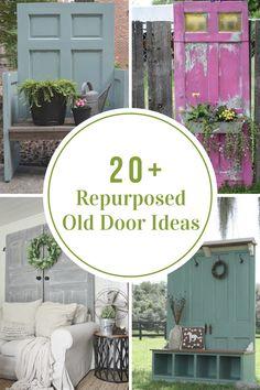 Upcycle doors Repurposed Old Door Ideas - The Idea Room Parrots to Poets -- Its all in learning to s Old Wood Doors, Old Barn Doors, Wooden Doors, Recycled Door, Repurposed Wood, Repurposed Items, Old Door Decor, Diy Door, Old Door Projects