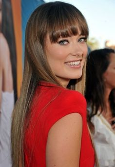 Olivia Wilde Hairstyles: Straight Haircut with Bangs