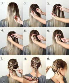 Simple Dutch Braid Hairstyle Tutorial