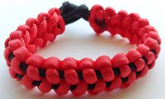 Red and Black Paracord Bracelet - Soloman Bar on Etsy, $5.00
