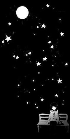 Under the night sky!