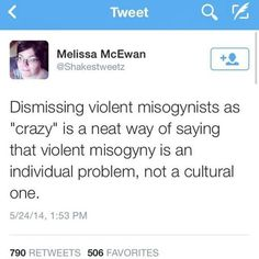grrrls-to-the-front:  ifyougopleasedontwrite:  this tweet is everything.  And perpetuates the myth that mentally ill people are typically violent
