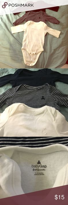 3 pack baby gap long sleeve shirts baby boy 3 first favorites baby gap long sleeve shirts for baby boy 0-3 months old , worn twice only like brand new. GAP Shirts & Tops Tees - Long Sleeve