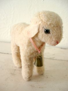 Vintage Steiff Mohair Lamb by Somethingcharming on Etsy, $65.00