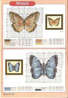 Butterfly Todos los esquemas de punto de cruz que te puedas imaginar | Aprender manualidades es facilisimo.com