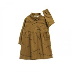Tinycottons - AW16-17 Many Words Mustard dress  72€ www.zirimola.com  #tinycottons #zirimola #onlineshop