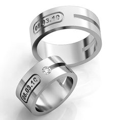 Hey, I found this really awesome Etsy listing at https://www.etsy.com/il-en/listing/259276695/date-wedding-bands-silver-wedding-rings
