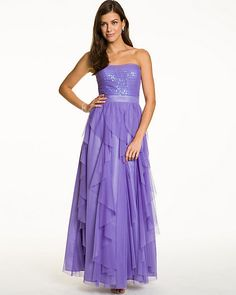 Mesh Corkscrew Sweetheart Gown