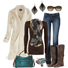 Brown and Teal Plaid, created by smores1165 on Polyvore