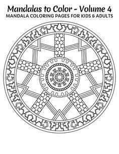 FREE Mandala Design.   Get 49 more here: http://www.amazon.com/Mandalas-Color-Mandala-Coloring-Adults/dp/1496033418 Copyright © 2014 IRONPOWER PUBLISHING