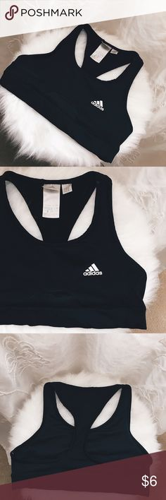 adidas Vintage Black Sports Bra with no padding Black Sports bra with no padding adidas Intimates & Sleepwear Bras