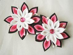 Handmade Kanzashi ladies girls hair clips - buy in UK, shipping worldwide on Etsy, $10.48 AUD