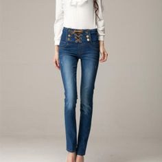 #Women's  #Clothing ,Exquisite Korean Style Empire Waist Jeans.