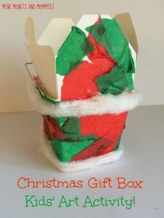 Christmas holiday gift collage for kids. Christmas Collage, Christmas Gift Box, Holiday Gifts, Christmas Holidays, Christmas Ideas, Christmas Crafts, Preschool Christmas Activities, Art Activities, Preschool Crafts