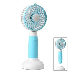 Vacuum Cleaner Parts Creative Personal Travel Fan Mini Portable Handheld Fan Rechargeable Battery Operated Pocket Fan Lightweight Small Dual Head Fan Skilful Manufacture Cleaning Appliance Parts