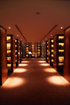 librarianista:  Park Hyatt Tokyo Library, Tokyo, Japan. Apparently this is the hotel featured in the movie Lost in Translation. (photo: s. yume)