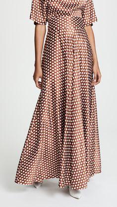 Diane von Furstenberg Draped Maxi Skirt Dot Dress bdd012377