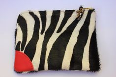 Mini pochette #zebrata #red