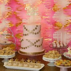 Pink and Gold Twinkle Twinkle Birthday Party Ideas | Photo 1 of 28