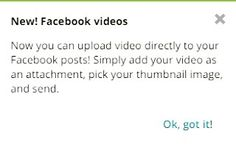 If you use #Hootsuite behold some added functionality for #Facebook video uploads.