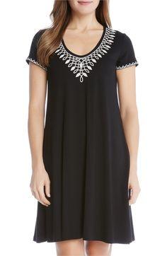 Main Image - Karen Kane Embroidered T-Shirt Dress