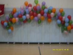 Balloon Arch   Balloon Arches   Balloon Decorations   Rozanz Birthday Balloon Delivery, Birthday Balloons, Balloon Flowers, Balloon Arch, Graduation Decorations, Balloon Decorations, Preschool Graduation, School Parties, Fine Motor Skills