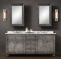 I'm dreaming again...  Zinc Double Vanity Sink from Restoration Hardware