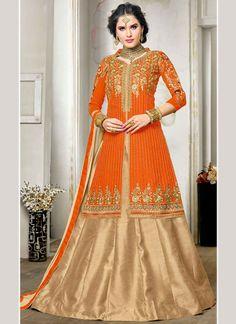 Beauteous Art Silk Long Choli Lehenga
