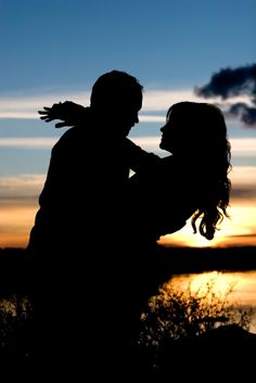silhouette pictures of couples - Google Search