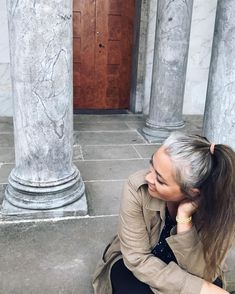 Gray hair don't care. Salt and pepper gray hair. Grey Hair Don't Care, Long Gray Hair, Silver Grey Hair, White Hair, Grey Highlights, Natural Highlights, Grey Hair Journey, Blonde Hair With Roots, Grey Hair Inspiration