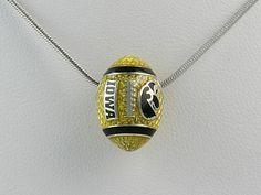 Bonyak Jewelry Sterling S Rh-p LogoArt Bowling Green State University Small Dangle Bead in Sterling Silver