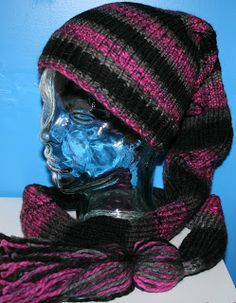 Loom knitted Scat Hat