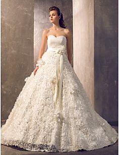 Lanting Bride® Trapèze Princesse Petites Tailles Grandes Tailles Robe de Mariage - Chic & Moderne Elégant & Luxueux Brillant & Séduisant