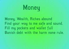 Can also be used as a chant or mantra instead Mama Pagan Money spell. Can also be used as a chant or mantra instead Mama Pagan Magick Spells, Witchcraft, Wiccan Spells Money, Healing Spells, Reiki, Feng Shui, Good Luck Spells, Easy Spells, Affirmations