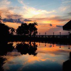 Pôr-do-sol no Ver-o-rio - Belém do Pará, Brasil __by Marcelo Sundin