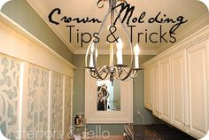 crown molding tips & tricks from tator tots and jello blog