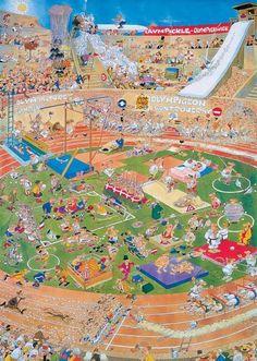 Jan van Haasteren: Olympische Spelen (1000 stukjes)